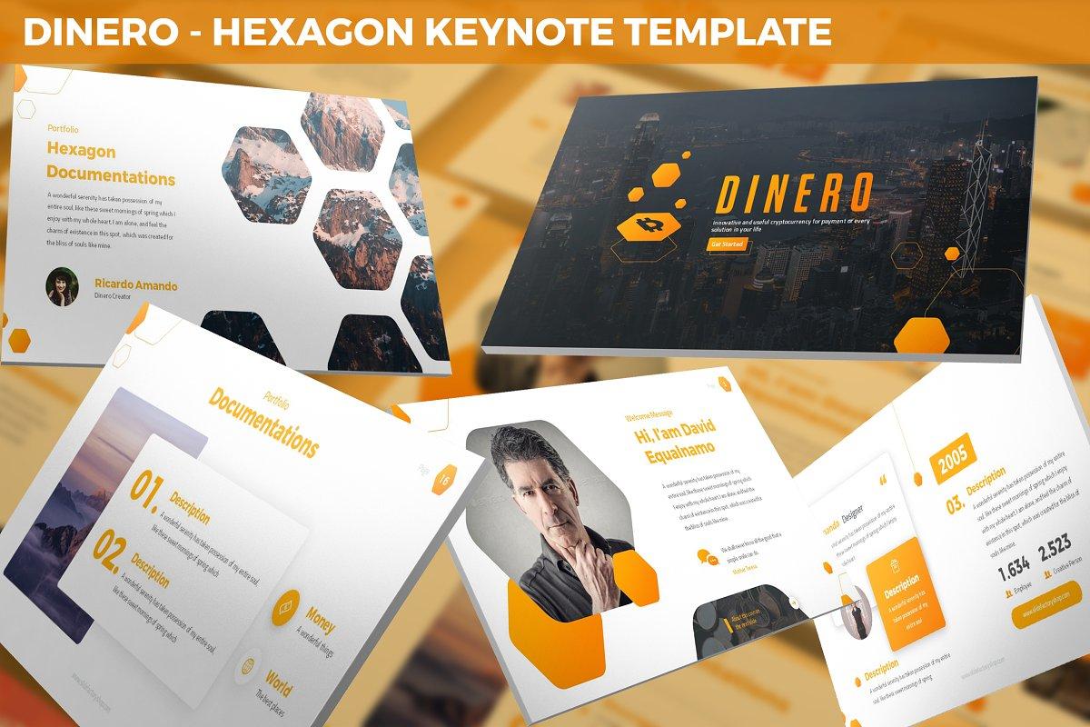 Dinero - Hexagon Keynote Template