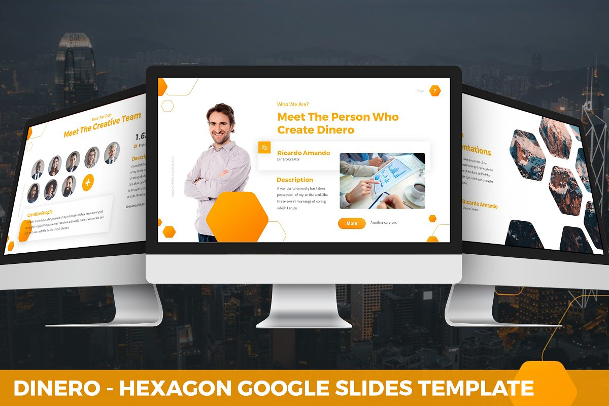 Dinero - Hexagon Google Slides
