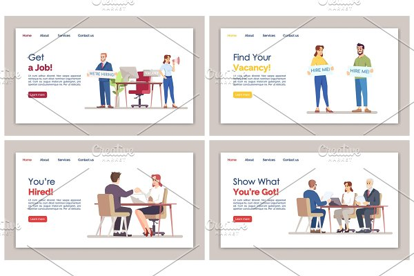 HR agency landing page set