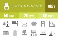 50 Business Greyscale Icons