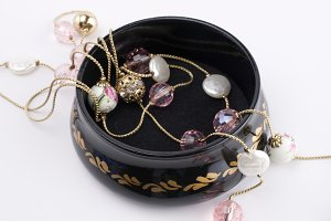 Jewellery box and beautiful necklace