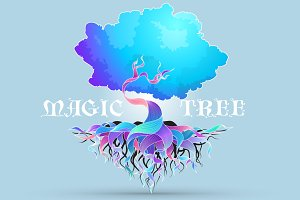 Magic Tree - vector illustration