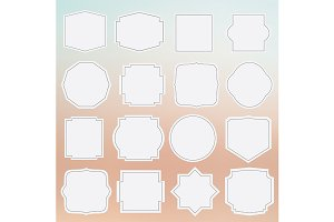 Set of elegance blank grey labels