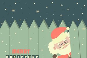 Santa,monkey,snowman