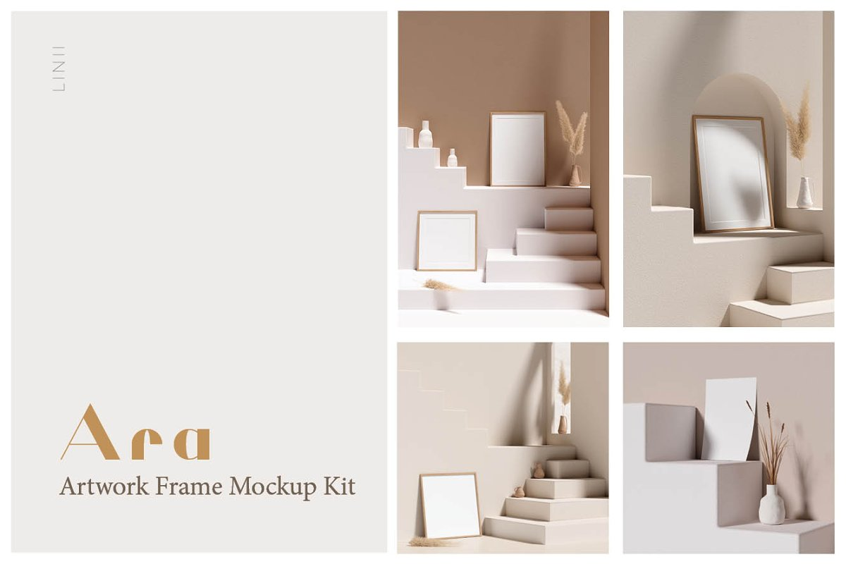 Ara Artwork Frame Mock-up Kit in Print Mockups - product preview 8