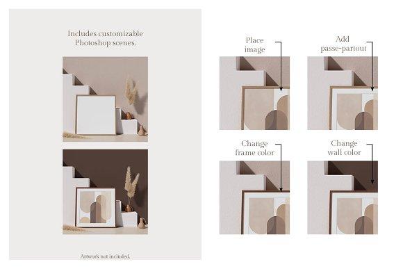 Ara Artwork Frame Mock-up Kit in Print Mockups - product preview 1