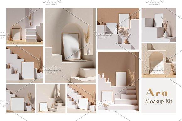 Ara Artwork Frame Mock-up Kit in Print Mockups - product preview 6