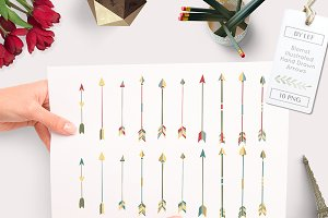 20 Hand Drawn Arrows PNG
