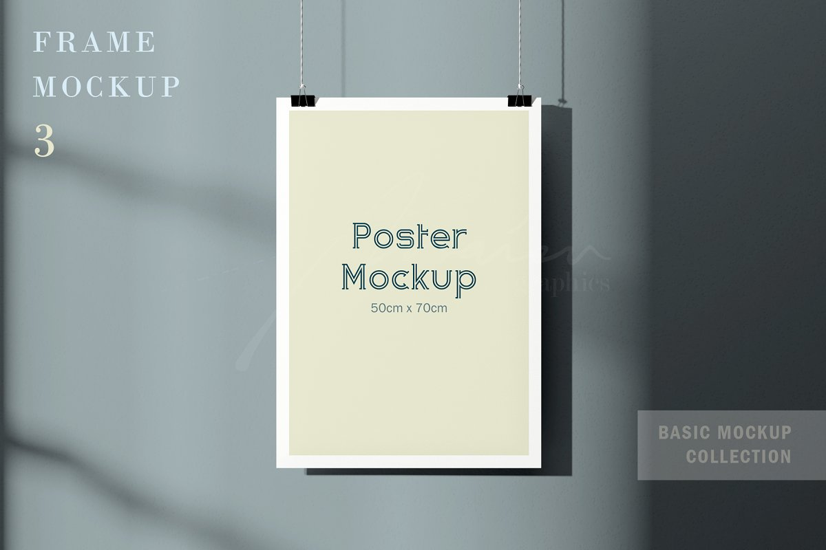 50x70cm Poster Mockup in Print Mockups - product preview 8