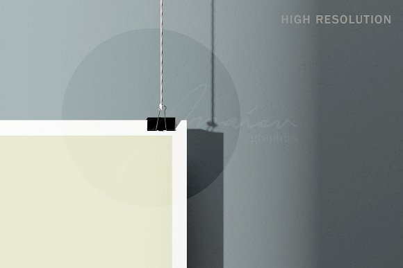 50x70cm Poster Mockup in Print Mockups - product preview 1