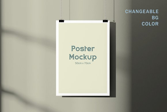 50x70cm Poster Mockup in Print Mockups - product preview 2