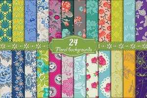 24 Floral Backgrounds