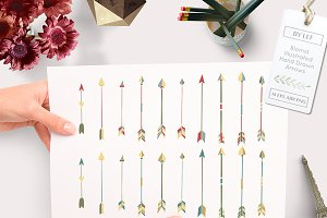 Tribal Arrow Vector Files PS Brushes