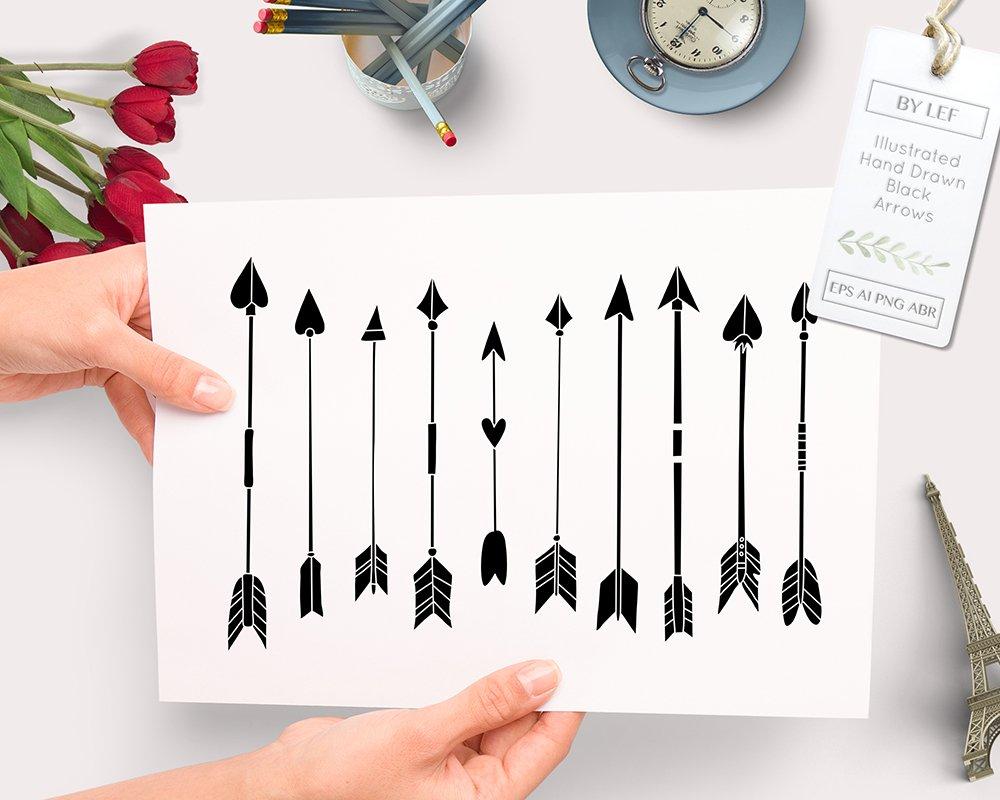 hand drawn arrow vector and ps brush illustrations creative market