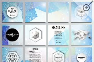 Digital design square brochures
