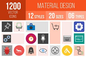 1200 Material Design Icons