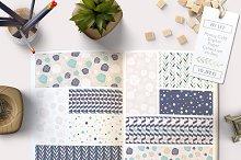 Peony Patterns, Digital Paper Pack
