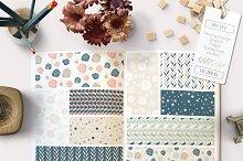 Flower Digital Paper Patterns Tiling