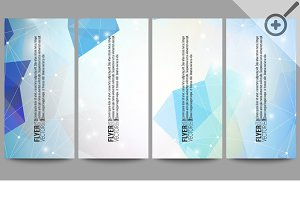 Abstract vector flyers