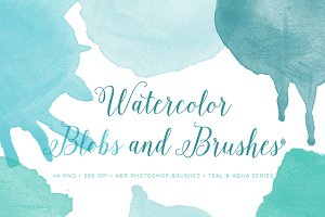 Watercolor Photoshop Brushes Blobs