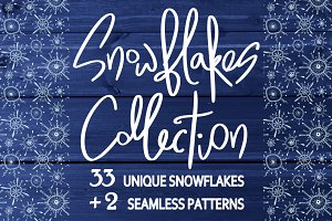 Snowflakes collection.