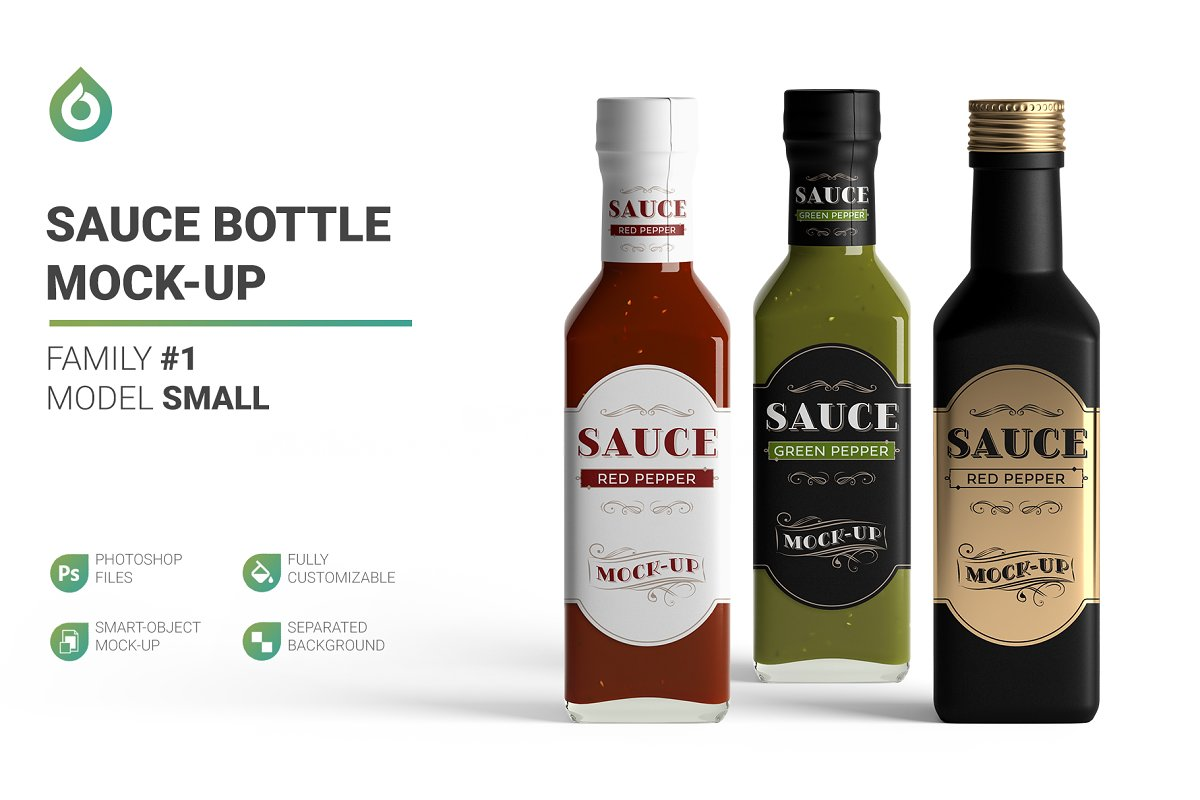 Sauce Bottle Mockup Free Download