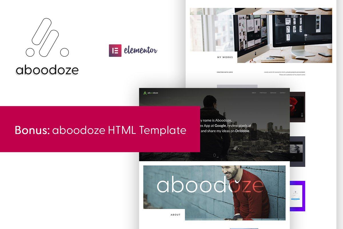 Aboodoze - One Page WordPress Theme