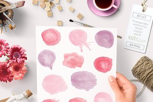 Watercolour blobs graphics hi-res