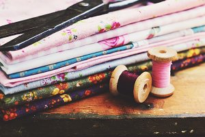 Vintage thread spools