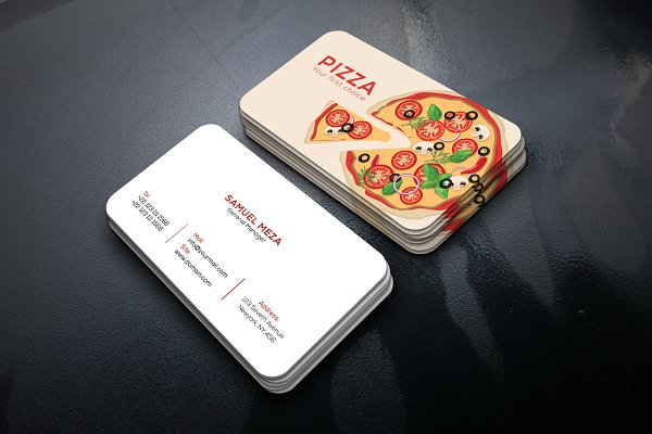 Pizza Shop Business Card