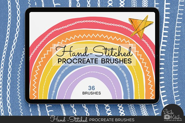 Hand-Stitched Procreate Brushes