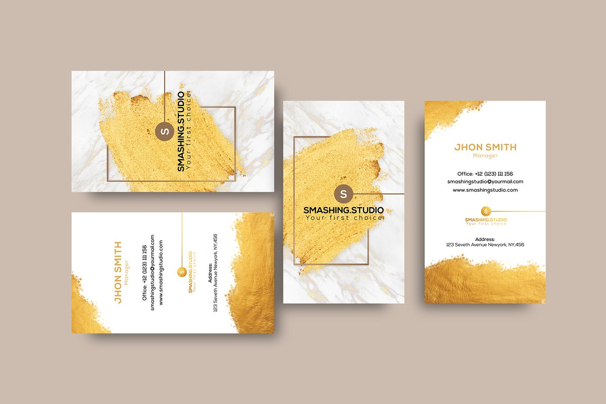 Golden Graffiti Business Card