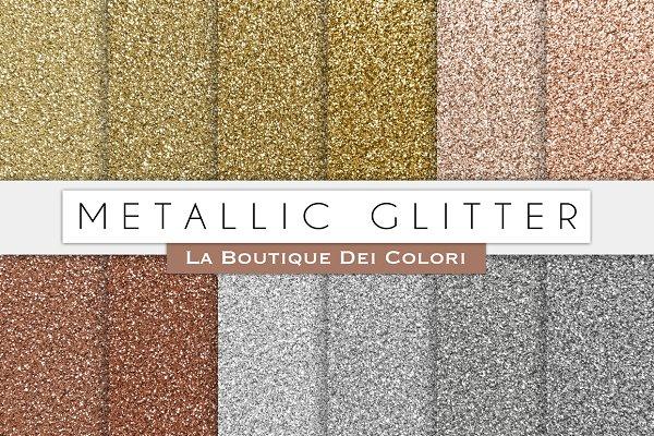 Metallic Glitter Digital Paper