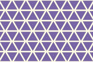 Triangles. Dot seamless Patterns.