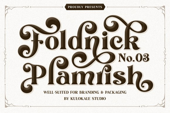 The Foldnick in Display Fonts - product preview 9