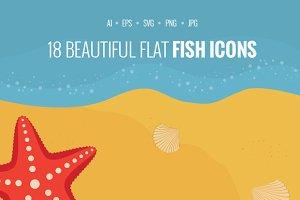 Fish Flat Icons