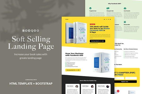 Booqoo - Soft Selling Landing Page