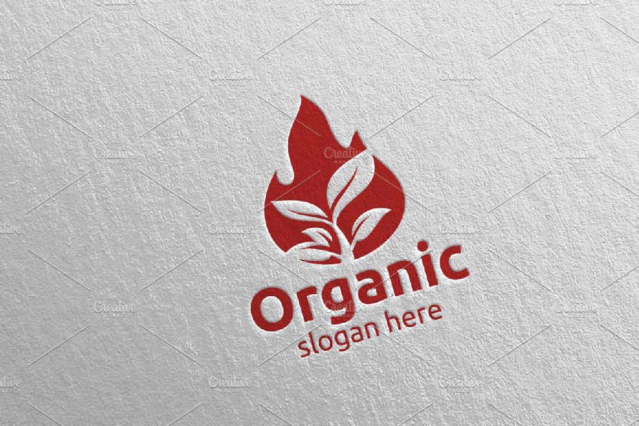 Fire Natural and Organic Logo 5