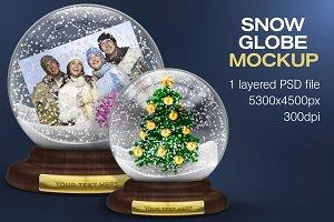 Snow Globe Mockup