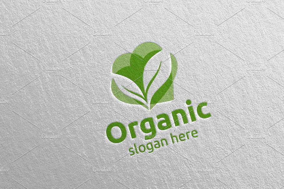 Love Natural and Organic Logo 10