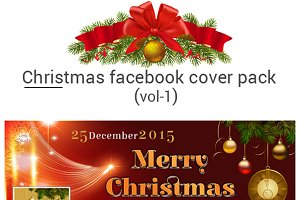 Christmas facebook cover pack vol-1