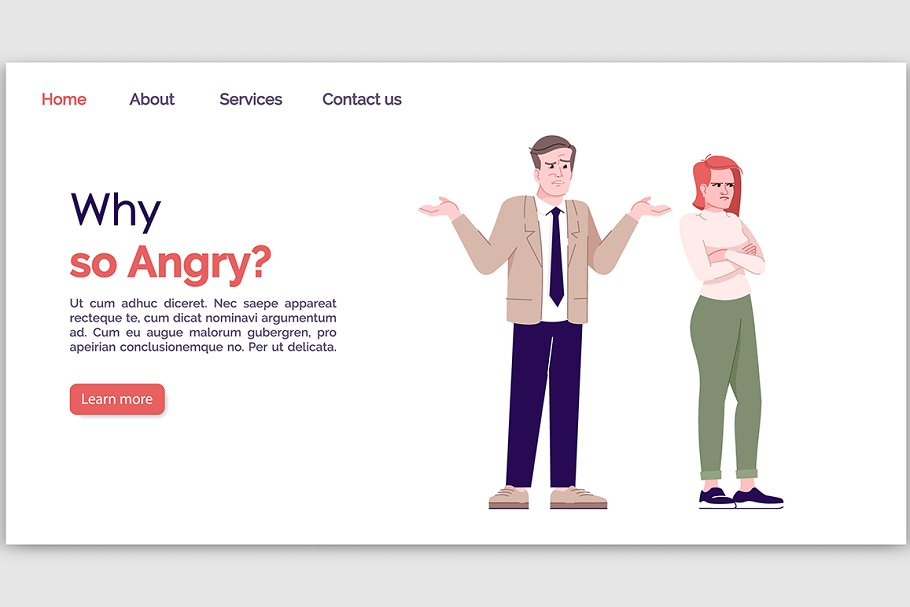 Why so angry landing page template