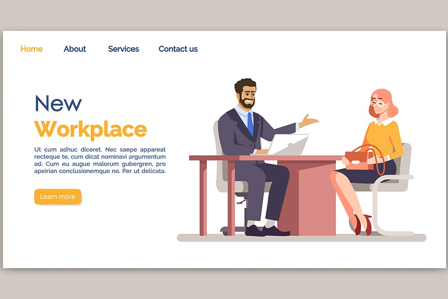 New workplace landing page template