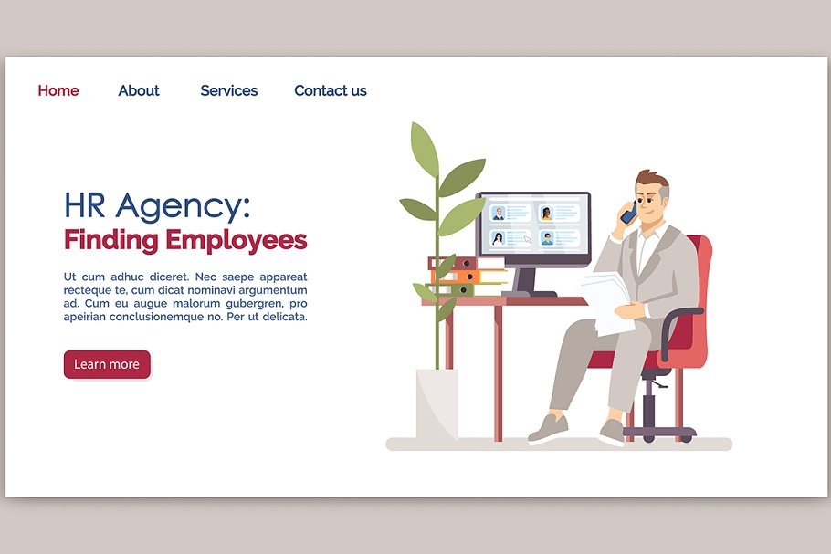 HR agency: finding employees