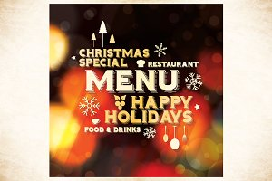 Special Christmas Restaurant Menu