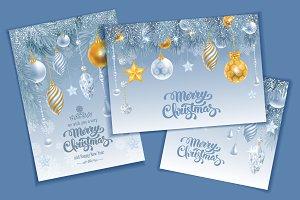 Christmas luxury cards set