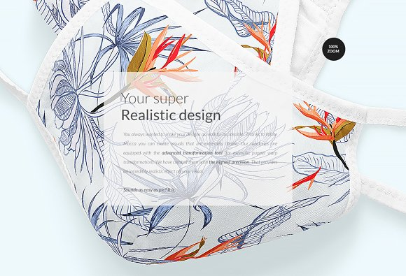 Cotton Face Mask Mock-ups Set in Print Mockups - product preview 18