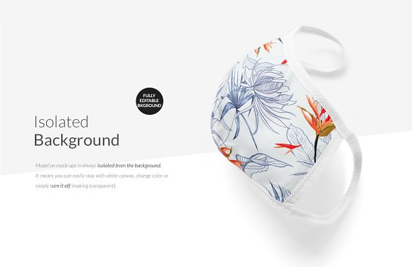 Cotton Face Mask Mock-ups Set in Print Mockups - product preview 19