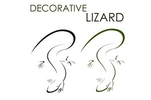 Decorative lizard