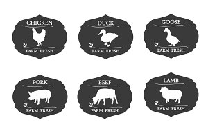 Meat labels and badges